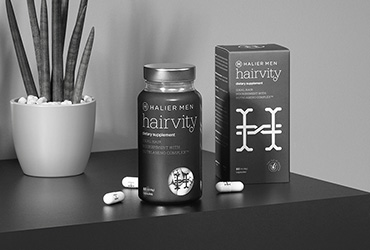 Nutricosmetic for men. It strengthens hair, accelerates its growth and averts hair loss.